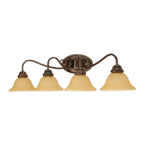 Nuvo Lighting Bathroom Light with Beige / Cream Glass in Sonoma Bronze Finish 60/1036