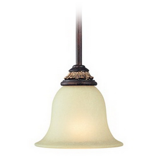 Dolan Designs Lighting Mini-Pendant with Caramelized Glass 2641-211