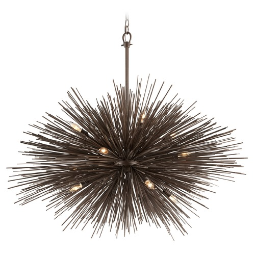 Troy Lighting Tidepool Bronze Extra Large Pendant Light  F3669 KIT W/LED CANDELABRA BULBS