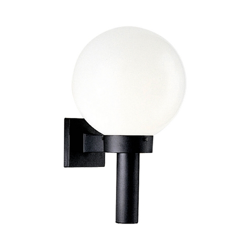 Progress Lighting Progress Large Globe Wall Light with White Plastic and Black Finish P5636-60