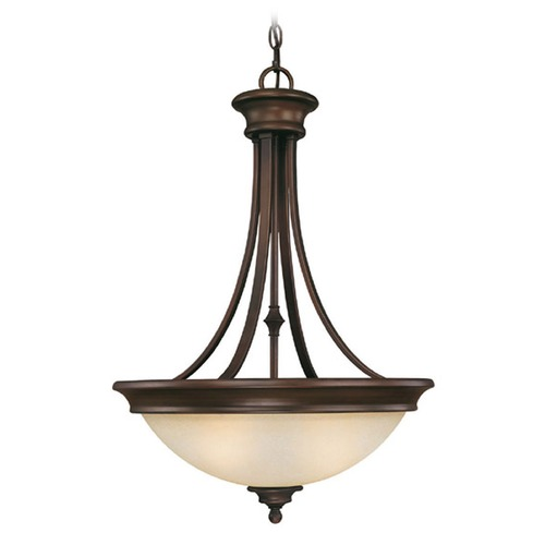 Capital Lighting Capital Lighting Belmont Burnished Bronze Pendant Light with Bowl / Dome Shade 3414BB