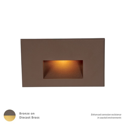 WAC Lighting LED 12V LEDme Horizontal Step and Wall Light 4011-AMBBR