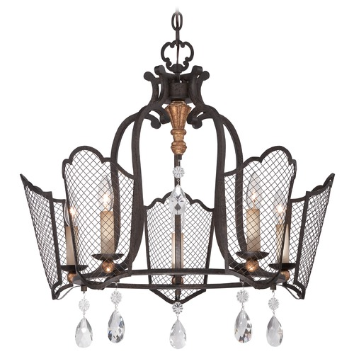 Metropolitan Lighting Metropolitan Cortona French Bronze W/ Gold Highligh Chandelier N7115-258B
