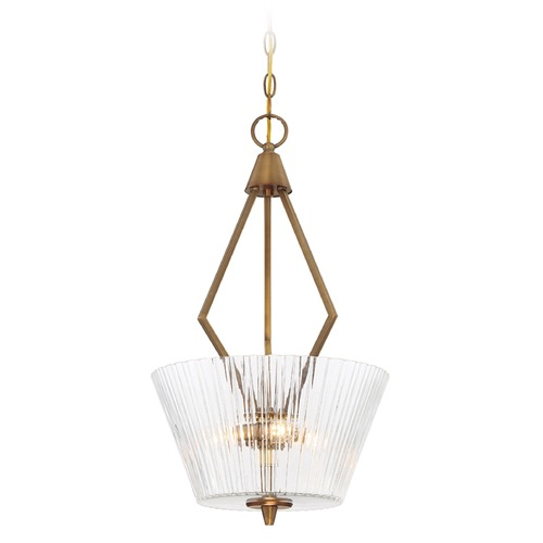 Designers Fountain Lighting Designers Fountain Montelena Old Satin Brass Pendant Light with Empire Shade 88931-OSB