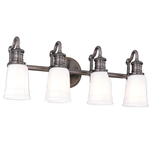 Hudson Valley Lighting Bathroom Light with White Glass in Antique Nickel Finish 2504-AN
