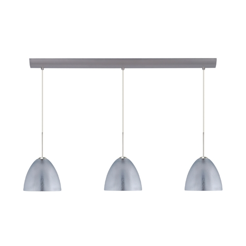 Besa Lighting Modern Multi-Light Pendant Light with Silver Glass and 3-Lights 3BV-7572SF-SN