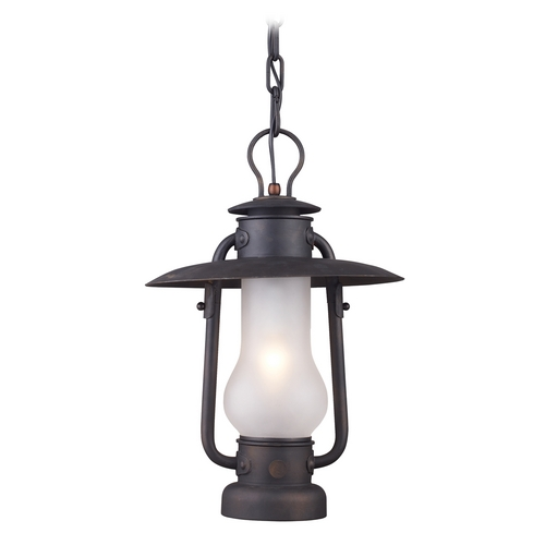 Elk Lighting Pendant Light with White Glass in Matte Black Finish 65006-1