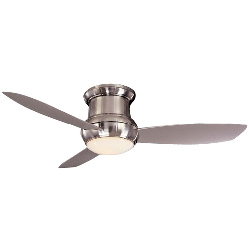 Minka Aire Fans 52-Inch Wet Rated Ceiling Fan w/ Three Blades and Light Kit F574-BNW