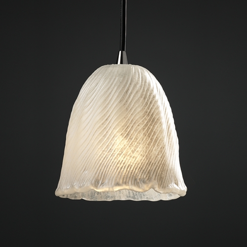 Justice Design Group Justice Design Group Veneto Luce Collection Mini-Pendant Light GLA-8815-56-WHTW-NCKL