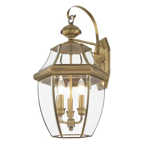 Livex Lighting Livex Lighting Monterey Antique Brass Outdoor Wall Light 2351-01