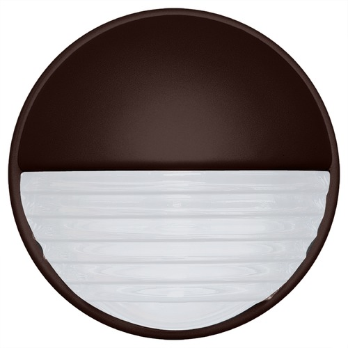 Besa Lighting Frosted Ribbed Glass Outdoor Wall Light Bronze Costaluz by Besa Lighting 301998-FR