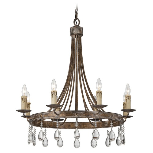 Savoy House Savoy House Bronze Patina Crystal Chandelier 1-201-8-15