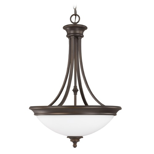 Capital Lighting Capital Lighting Belmont Burnished Bronze Pendant Light with Bowl / Dome Shade 3414BB-SW
