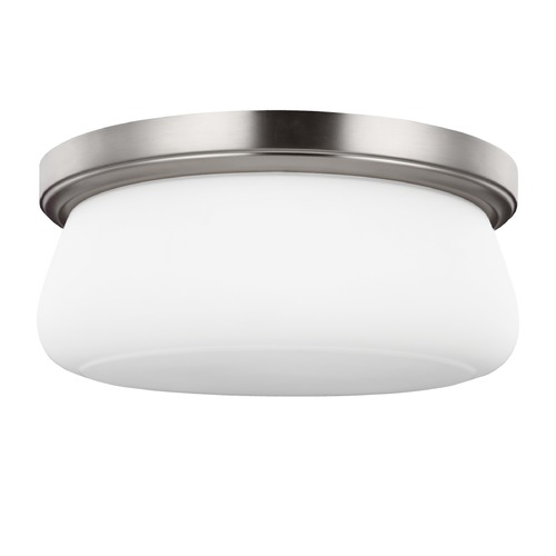 Generation Lighting Sea Gull Lighting Vintner Satin Nickel Flushmount Light FM413SN