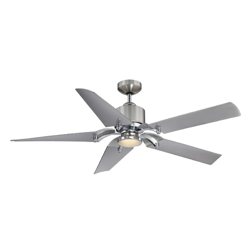 Savoy House Savoy House Lighting Wasp Satin Nickel/chrome LED Ceiling Fan with Light 52-200-5SV-SNCH