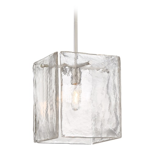 Designers Fountain Lighting Designers Fountain Madison Square Satin Platinum Pendant Light with Square Shade 89031-SP