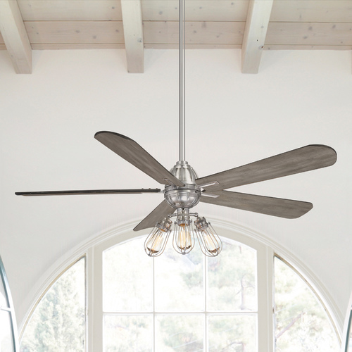 Minka Aire 56-Inch Minka Aire Alva Brushed Nickel LED Ceiling Fan with Light F852L-BN