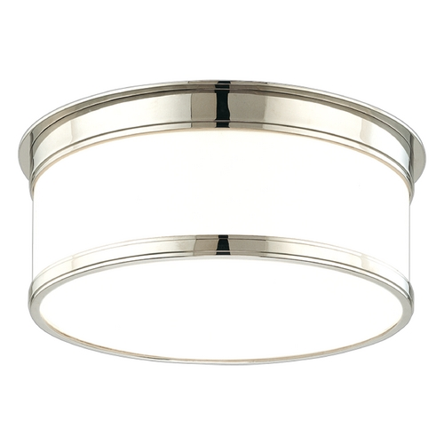 Hudson Valley Lighting Flushmount Light with White Glass in Polished Nickel Finish 712-PN