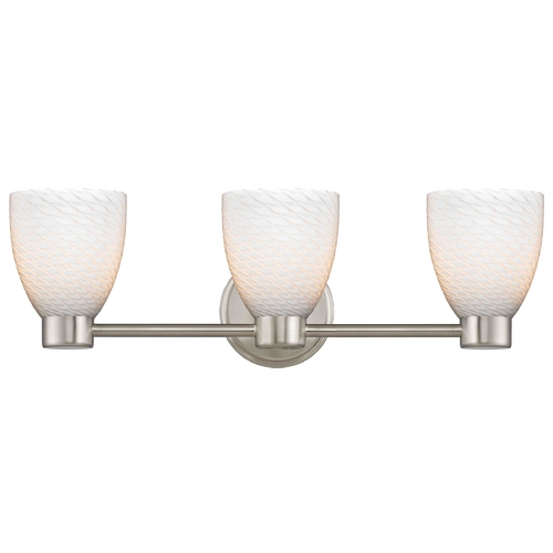 Design Classics Lighting Design Classics Lighting Aon Fuse Satin Nickel Bathroom Light 1803-09 GL1020MB