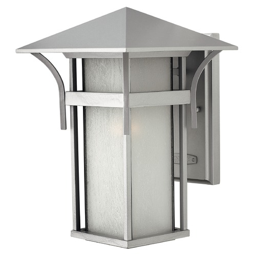 Hinkley Etched Seeded Glass Outdoor Wall Light Titanium Hinkley 2574TT