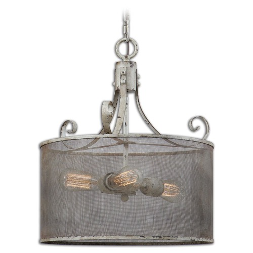 Uttermost Lighting Uttermost Pontoise 3 Light Drum Pendant 22004