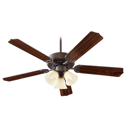 Quorum Lighting Quorum Lighting Capri Vi Toasted Sienna Ceiling Fan with Light 77525-1744