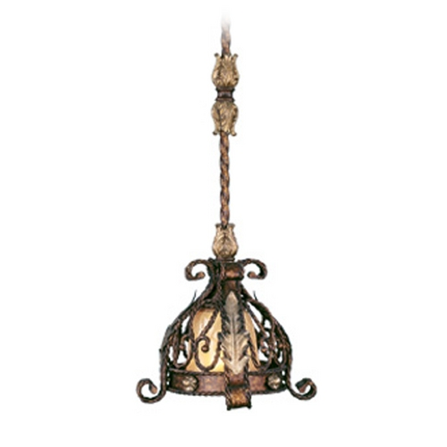 Livex Lighting Livex Lighting Pomplano Palacial Bronze with Gilded Accents Mini-Pendant Light with Bowl / Dome Shad 8840-64