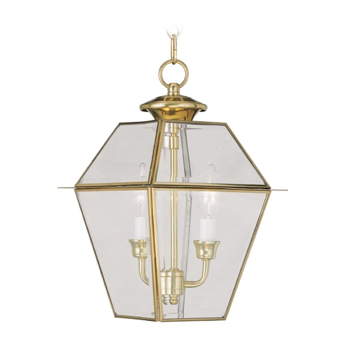 Livex Lighting Livex Lighting Westover Polished Brass Outdoor Hanging Light 2285-02