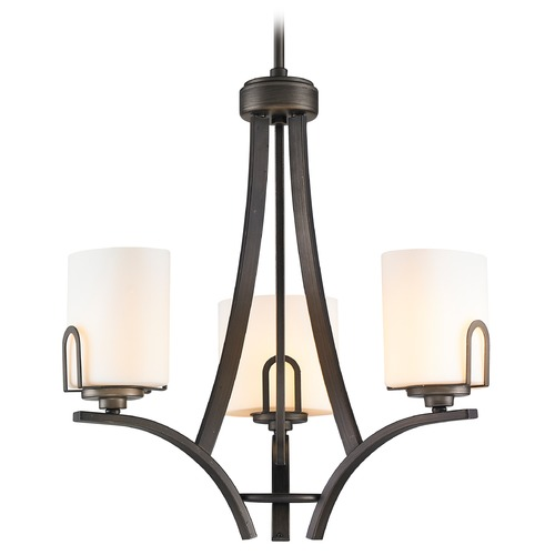 Golden Lighting Golden Lighting Presilla Gunmetal Bronze Mini-Chandelier 9363-M3 GMT-OP