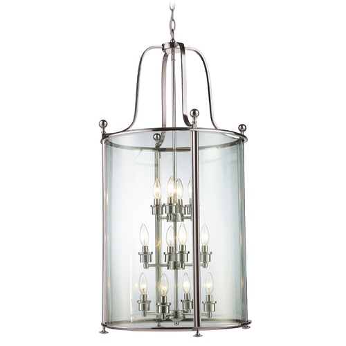 Z-Lite Z-Lite Wyndham Brushed Nickel Pendant Light with Cylindrical Shade 191-12