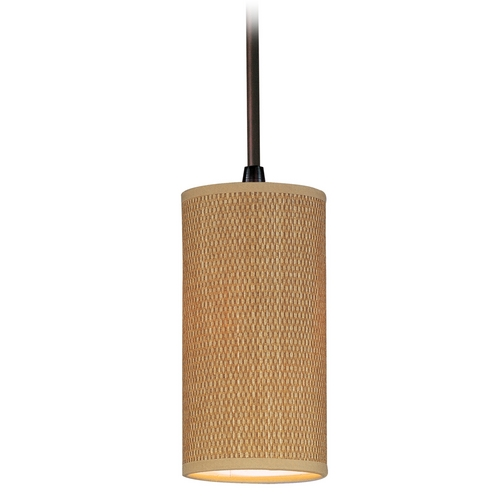 ET2 Lighting Modern Mini-Pendant Light with Brown Shade E95124-101OI