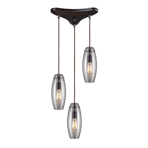 Elk Lighting Modern Multi-Light Pendant Light with Clear Glass and 3-Lights 60044-3