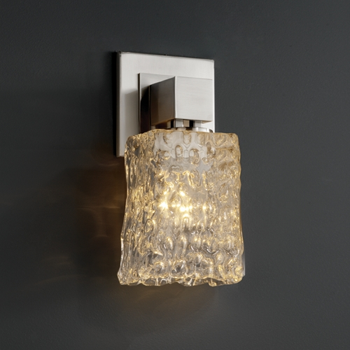 Justice Design Group Justice Design Group Veneto Luce Collection Chrome Sconce GLA-8705-26-CLRT-CROM