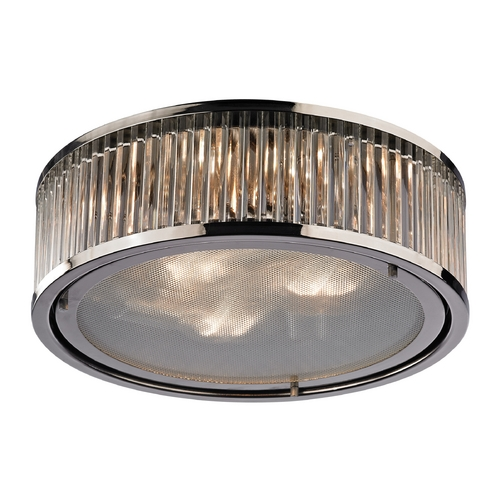 Elk Lighting Flushmount Light in Polished Nickel Finish 46103/3