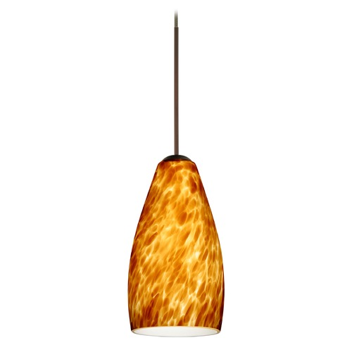 Besa Lighting Besa Lighting Karli Bronze LED Mini-Pendant Light 1XT-719818-LED-BR