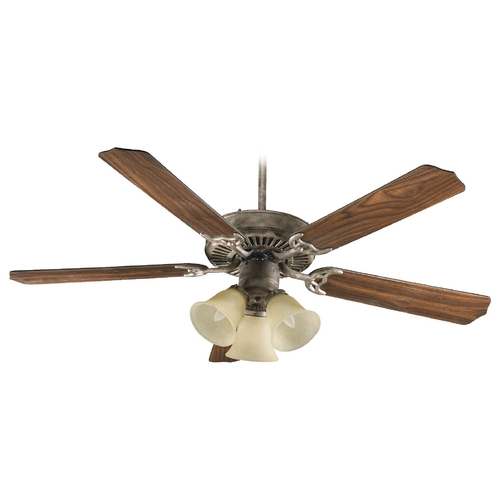 Quorum Lighting Quorum Lighting Capri Vi Mystic Silver Ceiling Fan with Light 77525-1758