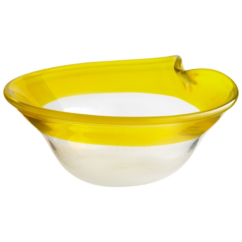 Cyan Design Cyan Design Saturna Yellow & Clear Bowl 06746