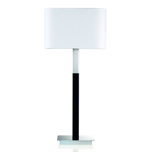 Holtkoetter Lighting Wurfel Brushed Aluminum/black Table Lamp with Square Shade 2645BABKSW