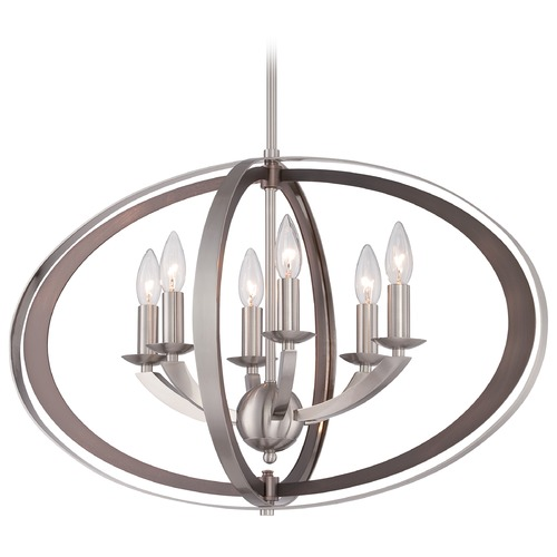 Metropolitan Lighting Metropolitan Ironsights Brushed Nickel Pendant Light N6856-84