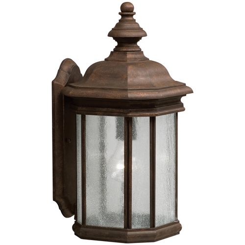 Kichler Lighting Kichler Outdoor Wall Light with Clear Glass in Tannery Bronze Finish 9029TZ