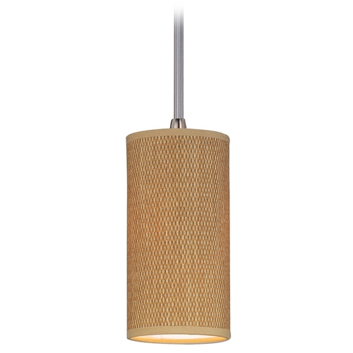 ET2 Lighting Modern Mini-Pendant Light with Brown Shade E95124-101SN