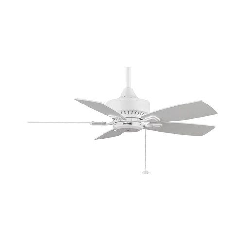 Fanimation Fans Ceiling Fan Without Light in White Finish FP8042WH