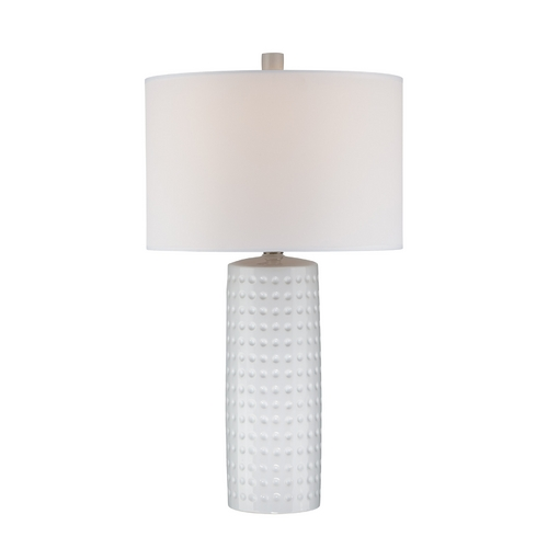 Lite Source Lighting Lite Source Lighting Diandra White Table Lamp with Drum Shade LS-21979WHT