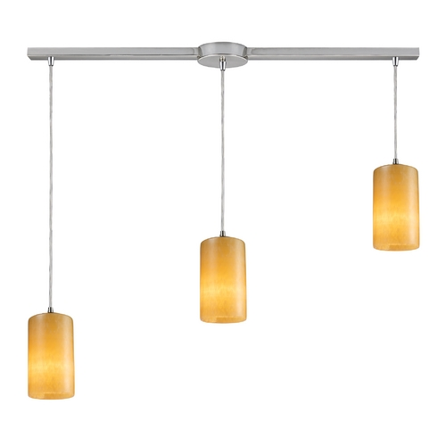Elk Lighting Modern Multi-Light Pendant Light with Orange Shades and 3-Lights 10169/3L