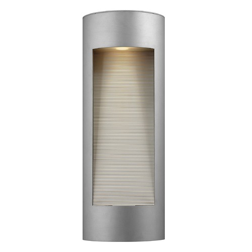 Hinkley Lighting Modern Outdoor Wall Light with Etched in Titanium Finish 1664TT