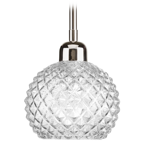 Progress Lighting Progress Lighting Entice Polished Nickel Mini-Pendant Light P5041-104