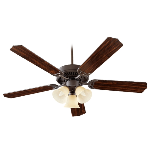 Quorum Lighting Quorum Lighting Capri Vi Oiled Bronze Ceiling Fan with Light 77525-1786