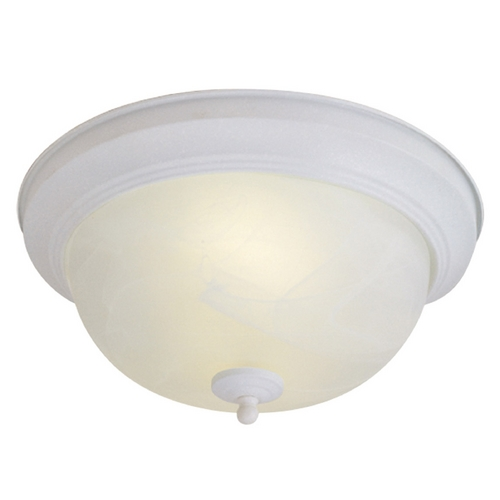 Livex Lighting Livex Lighting Textured White Flushmount Light 9046-13