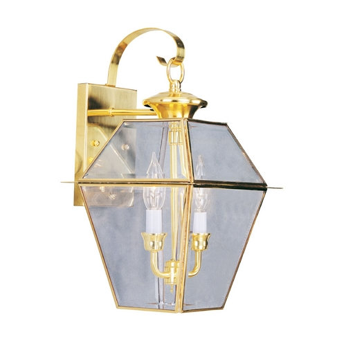 Livex Lighting Livex Lighting Westover Polished Brass Outdoor Wall Light 2281-02