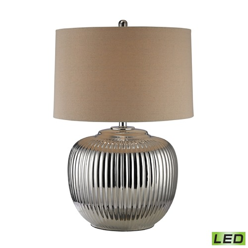 Dimond Lighting Dimond Lighting Silver Plating LED Table Lamp with Drum Shade D2640-LED